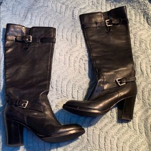 MICHAEL by Michael Kors Stacked Heel Boots